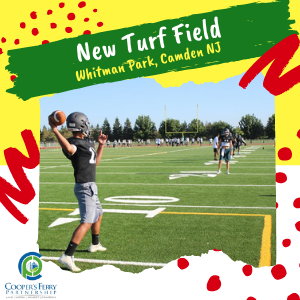 Jaws Youth Playbook Donates $50,000 over two years to build a new turf field in Whitman Park, Camden, NJ