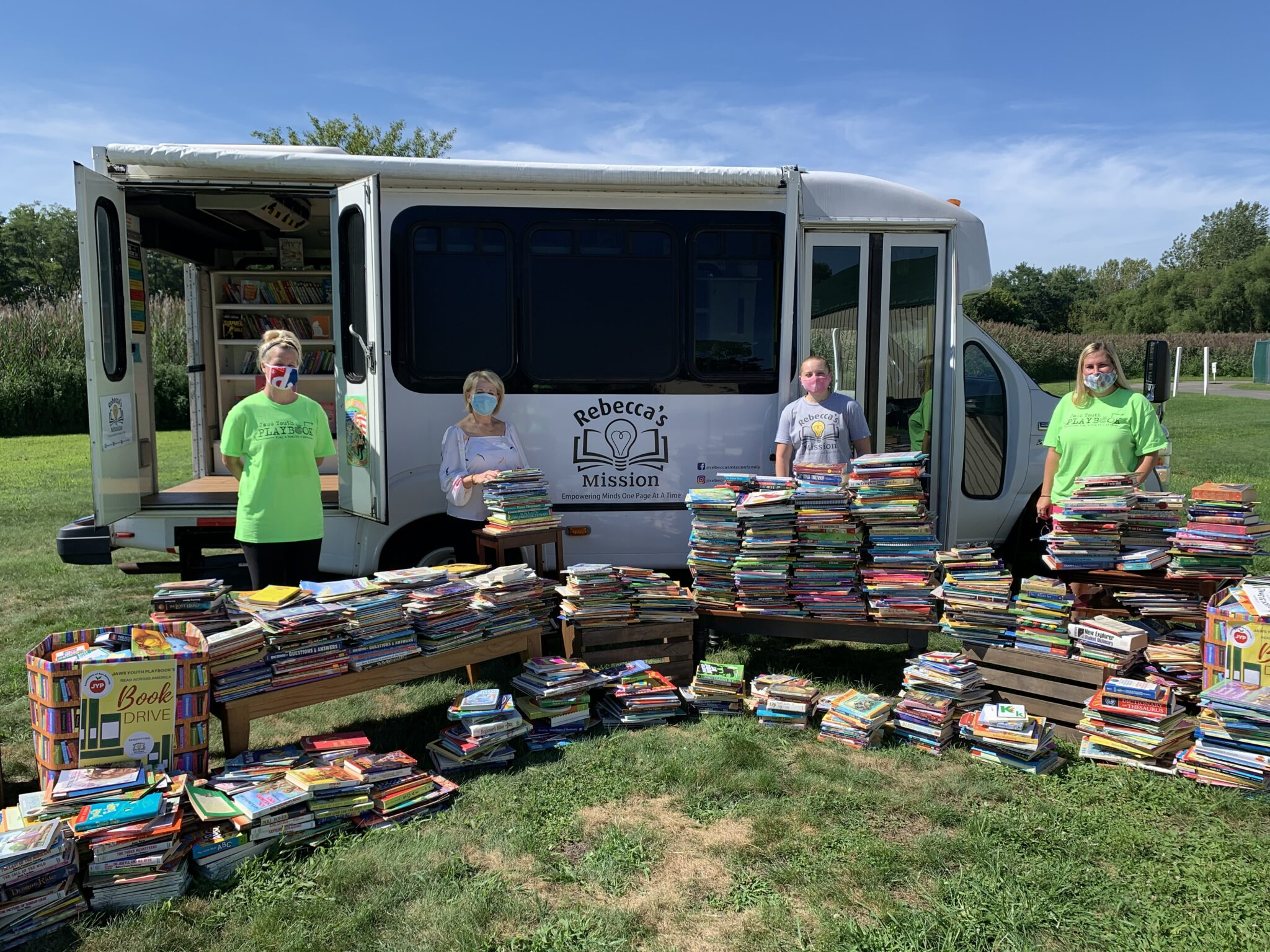 Jaws Youth Playbook Donates 3580 Books