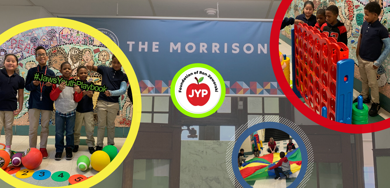 Jaws Youth Playbook Donates Recess Equipment to Morrison Elementary
