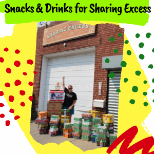 Jaws Youth Playbook donates 500 drinks and snacks to Sharing Excess