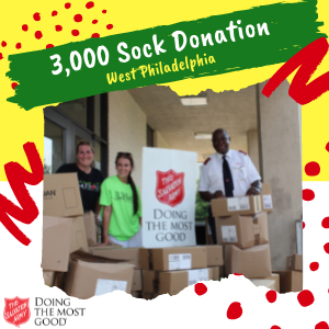 Jaws Youth Playbook Donates 3,000 Socks to the Salvation Army