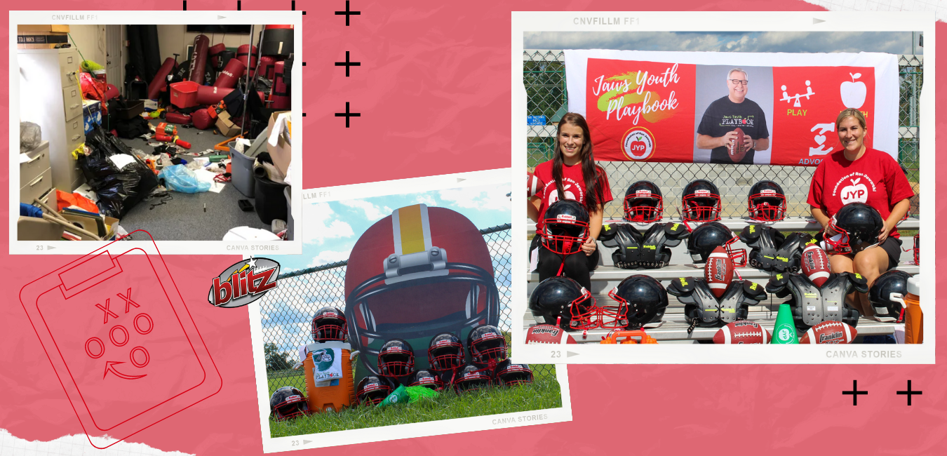 Ron Jaworski and Jaws Youth Playbook donate brand new Wilson footballs, Riddell helmets, and shoulder pads