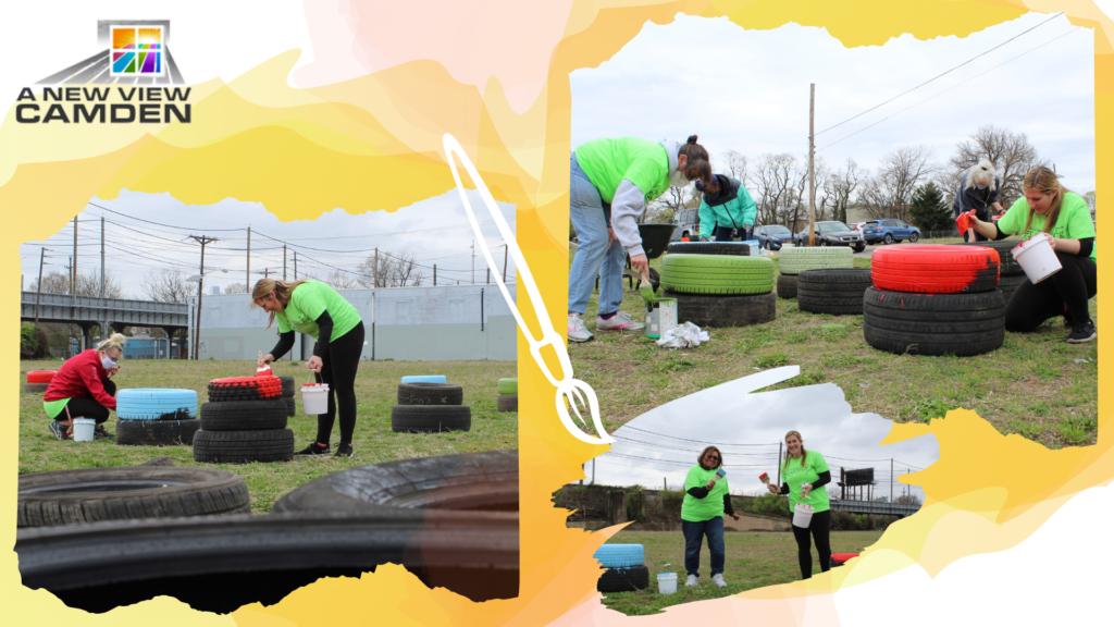JYP Volunteers to Paint Tires in Camden, NJ