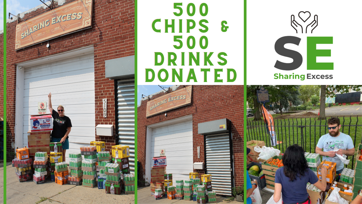 Jaws Youth Playbook Donates 500 Snacks & Drinks to Sharing Excess