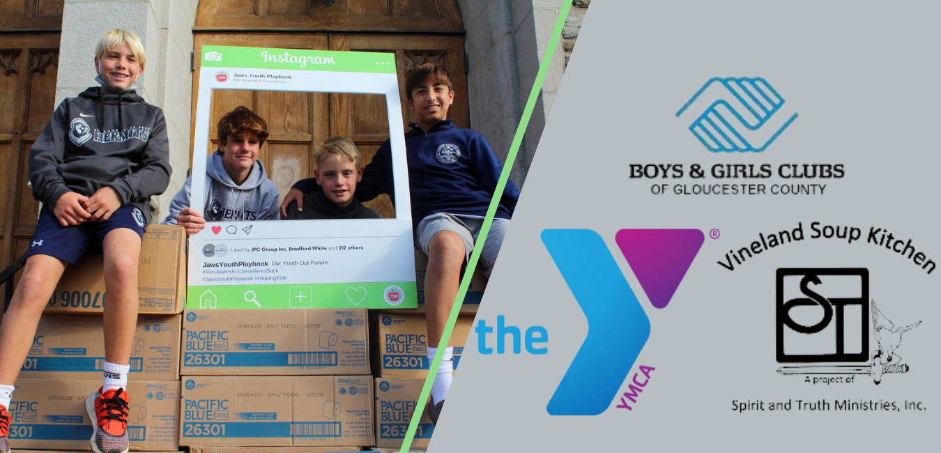 Ron Jaworski's Foundation Donates Paper Towels and Toilet Paper to YMCA and Boys and Girls Club